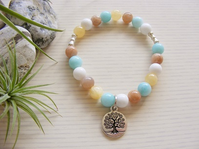 Tree of Life - Ambronite Sunstone Bracelet