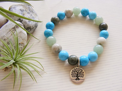 Tree of Life - Peace Jade Howlite Bracelet