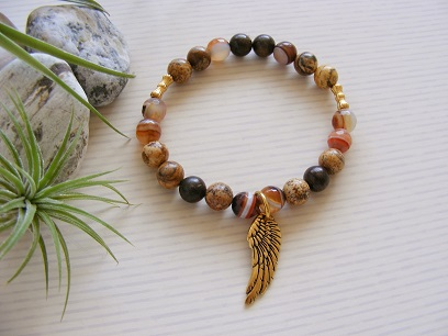 Angel Wing - Dream Agate Bracelet