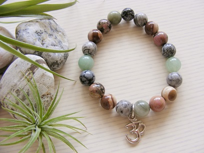Om Symbol - Mixed Gemstone Bracelet
