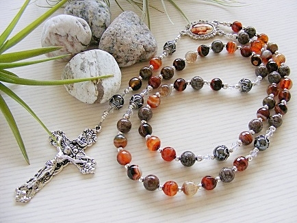 Handmade Rosary Dream Agate